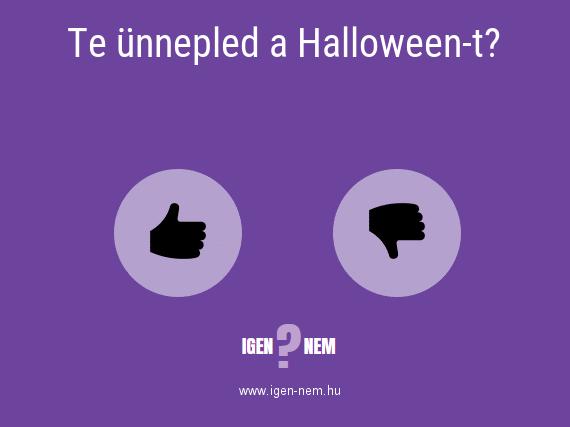 Te ünnepled a Halloween-t? IGEN? NEM? | igen-nem.hu